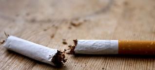 Auf den Schreck erst mal eine Zigarette