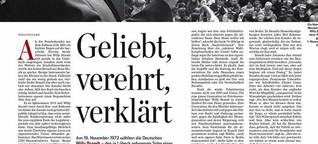 Willy Brandt: Geliebt, verehrt, verklärt