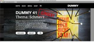 """Selbstzensur des """"Dummy""""-Magazins"""
