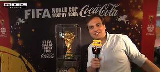 Treffen mit dem WM-Pokal