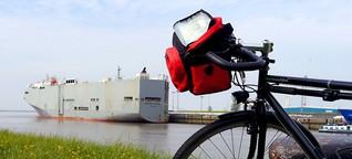 Radeln am Meyerkanal : Riesen fahren rückwärts