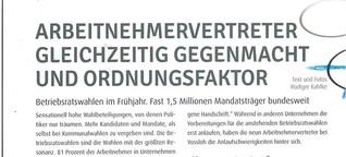 Betriebsratswahl: 1,48 Mio. Interessenvertreter