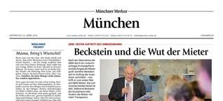 Beckstein und die Wut der Mieter