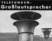 Elektroakustisches Engagement für die Nationalsozialisten