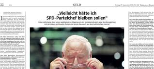"""""""Vielleicht hätte ich SPD-Parteichef bleiben sollen"""""""