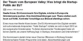 Der Traum vom European Valley: Was bringt die Startup-Politik der EU?