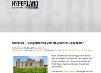Startups – ausgebremst von deutschen Gesetzen?