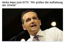 """Heiko Maas zum §175:  """"Wir prüfen die Aufhebung der Urteile"""""""