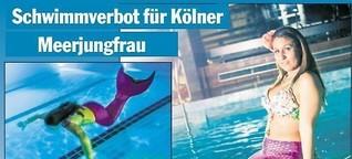 Schwimmverbot für Kölner Meerjungfrau