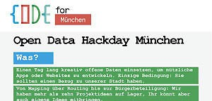 torial Blog | Open Data Hackday in München: Journalisten gesucht!