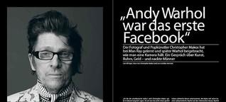 Warhol-Lebensgefährte Chris Makos im Gespräch