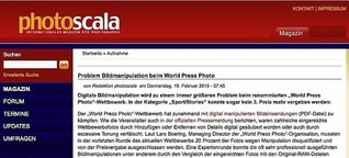Problem Bildmanipulation beim »World Press Photo«-Award