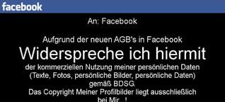 Nein - man widerspricht mit diesem Foto nicht der Datennutzung durch Facebook! - RTL.de