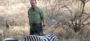 Der Mann, der so gerne große Tiere schießt