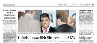 Keine Angst vor Big Schäuble / FTD 7.8.07