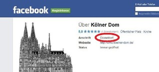 Verwirrung im Netz: Facebook verlegt Kölner Dom nach Düsseldorf