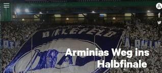 Multimedia-Spezial: Arminias Weg ins Halbfinale des DFB-Pokals