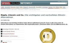 Ripple, Litecoin und Co.: Die wichtigsten Bitcoin-Alternativen