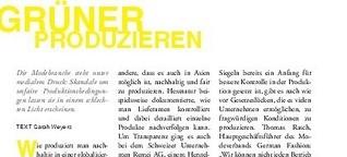 BUY GOOD STUFF - Fair Fashion Guide Düsseldorf: Grüner produzieren