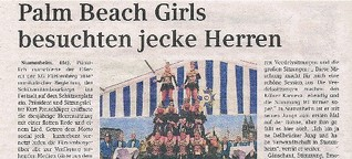 Palm Beach Girls besuchten jecke Herren