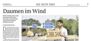 Daumen im Wind