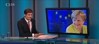 Live-Schalte ins tschechische Fernsehen