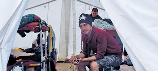 Probleme bei Flüchtlings-Unterbringung: Frust im Zelt