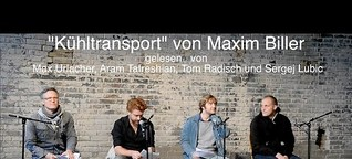 "60pages - ""Kühltransport: Ein Drama"" von Maxim Biller. Lesung am 20.09.2015 in Berlin"