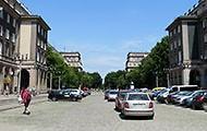 Diagonal Stadtporträt Krakau