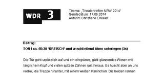 NRW-Theatertreffen in Dortmund 2014