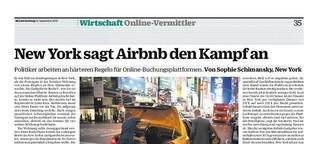 New York sagt Airbnb den Kampf an