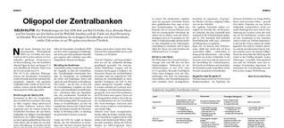 Oligopol der Zentralbanken