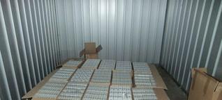 Erfurt und Gotha - 320.000 Schmuggel-Zigaretten, 1,2 Kilo Marihuana und 14.000 Euro