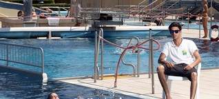 Flüchtling fast ertrunken: Bade-Opfer wird Bademeister!