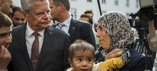 """Joachim Gauck spricht vom """"Land der Zuversicht"""", doch wo ist seine?"""