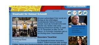Staatsakt für Helmut Schmidt