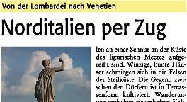 Norditalien per Zug