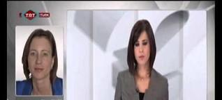 Live Interview für das türkische Fernsehen auf Englisch über Journalisten bei Krawallen in Hamburg / 6.1.2014