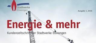 Kundenmagazin der Stadtwerke Ellwangen