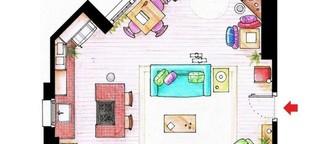 Kannst du die Wohnungen dieser Serien-Helden an ihrem Grundriss erkennen?