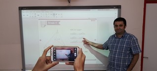 Mathelehrer aus der Türkei unterrichtet ärmere Schüler mit Periscope-Videos