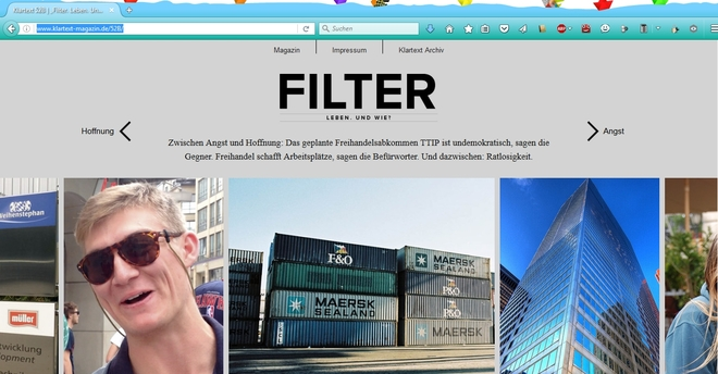 """Online-Special TTIP (""""FILTER"""")"""