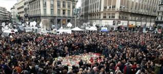 Ganz Belgien schweigt zum Gedenken an die Opfer