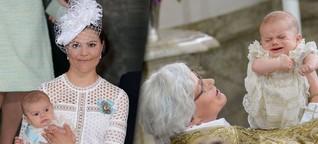 Prinz Oscar von Schweden getauft | Ein kurzes Quietschen - dann schlief er wieder