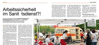 Rettungs-Magazin: Arbeitssicherheit im Sanitätsdienst