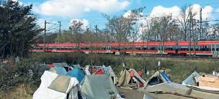 Das Zeltlager mitten im Zentrum soll weg