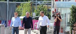 Fotostrecke: Erster Auftritt beim FC Bayern: FC Bayern: Erste Fotos! Carlo Ancelotti an der Säbener Straße - Abendzeitung München