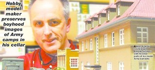 Hobby model maker shows Army camps