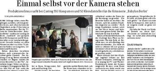 """""""Babylon Berlin""""-Casting in Bonn"""