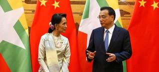 Aung San Suu Kyi in China: Nicht ohne den grossen Nachbarn